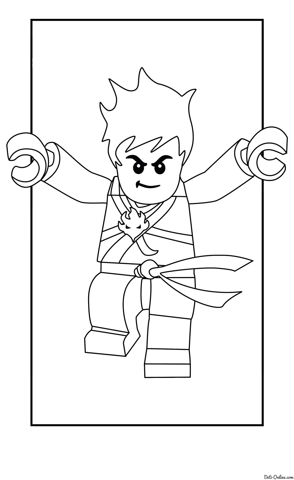 lego ninjago coloring pages - 3311