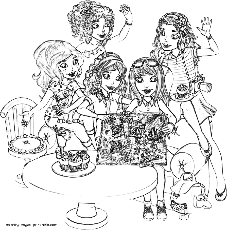 lego printable coloring pages - lego friends coloring pages id=42