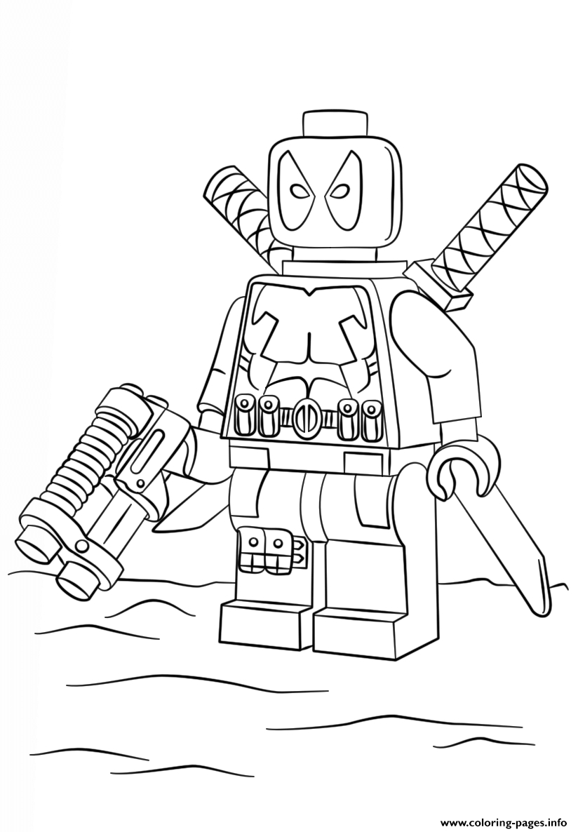 lego printable coloring pages - lego deadpool printable coloring pages book