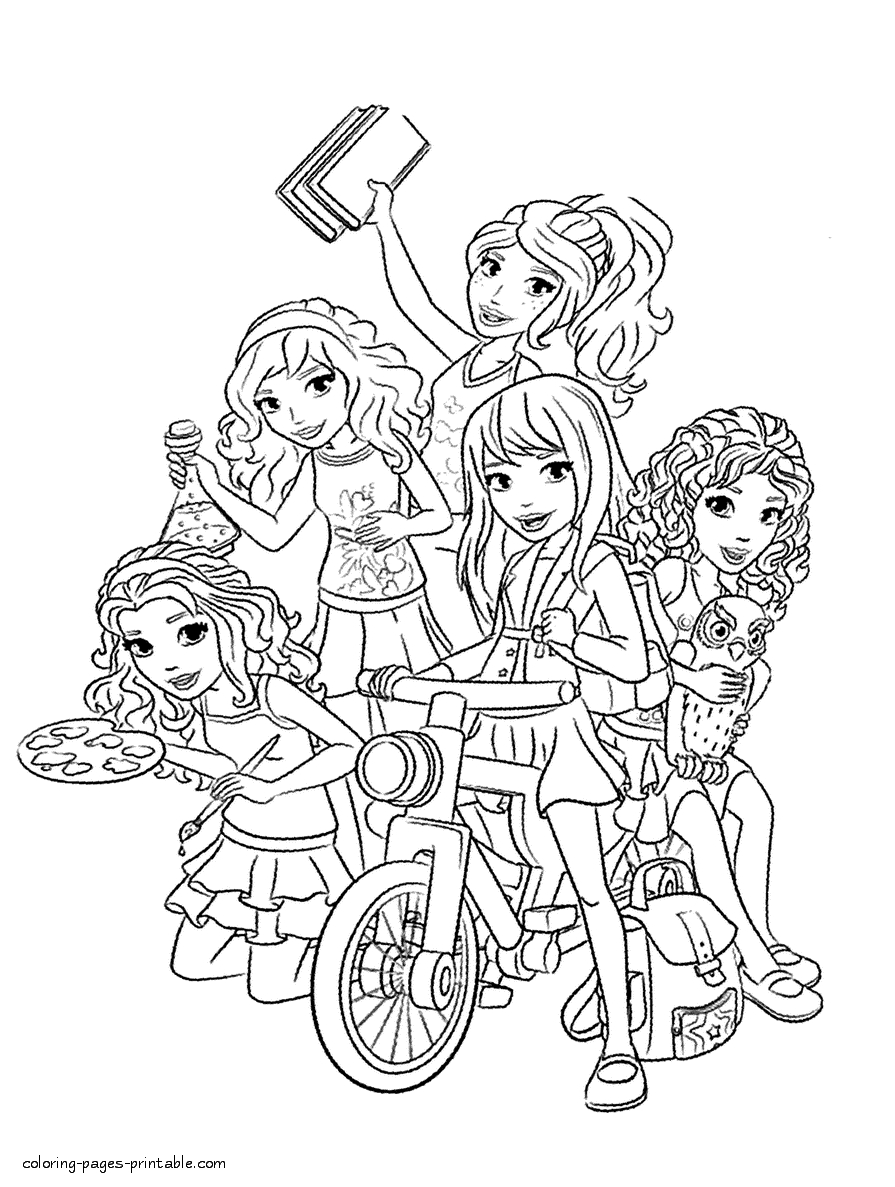 Lego Printable Coloring Pages - Lego Friends Coloring Pages to Print