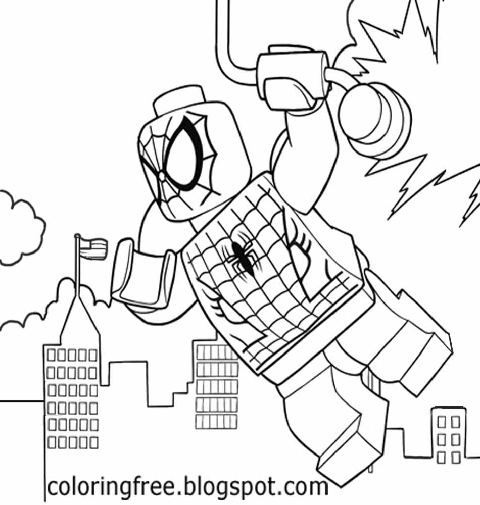 25 Lego Spiderman Coloring Pages Images Free Coloring Pages Part 3