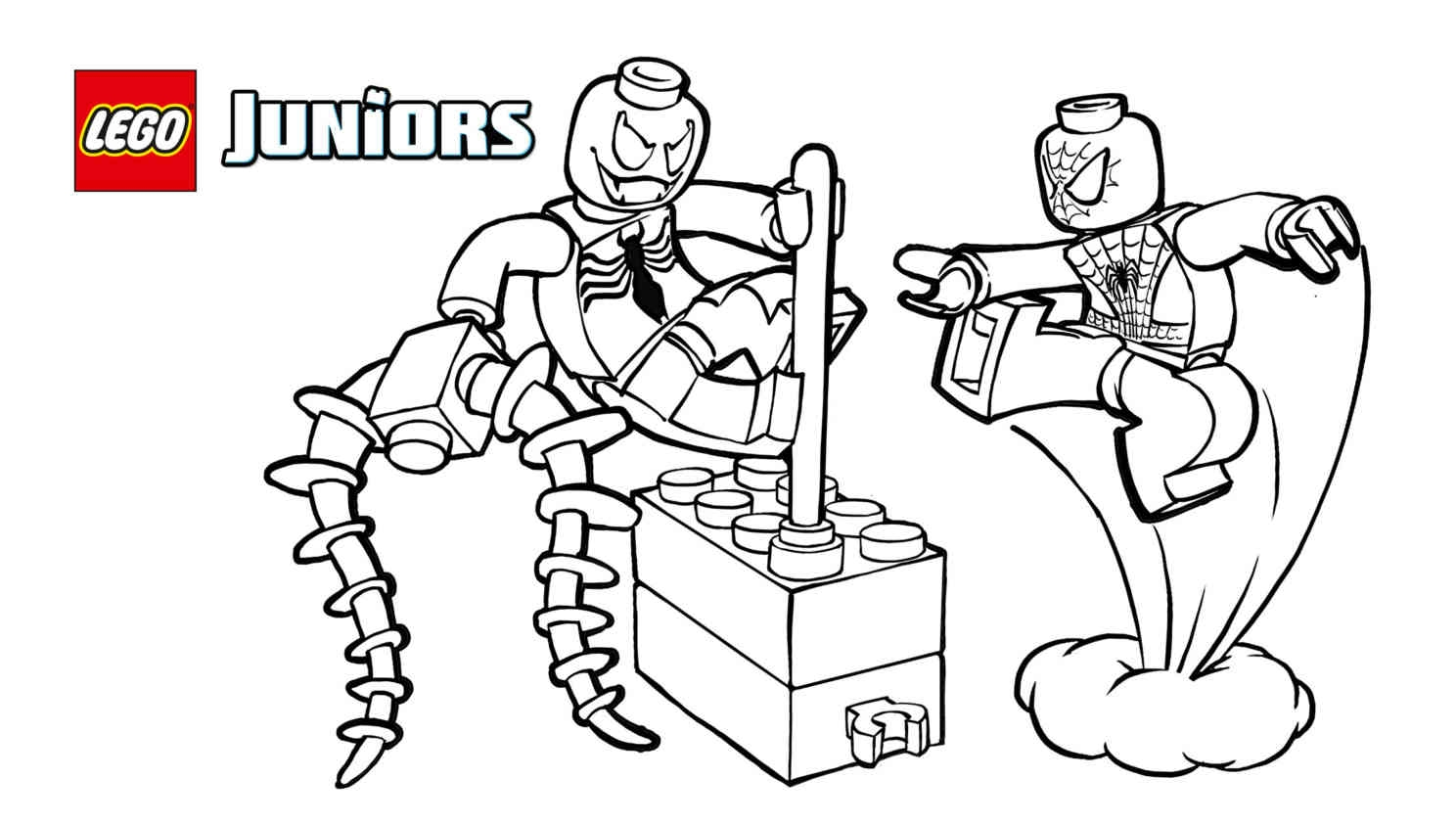 lego spiderman coloring pages - lego spider man coloring pages