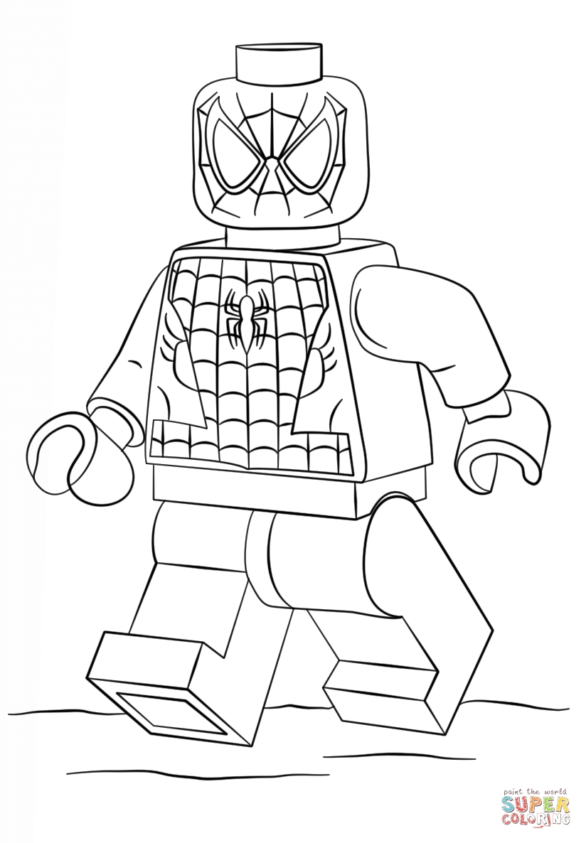 lego spiderman coloring pages - lego spiderman