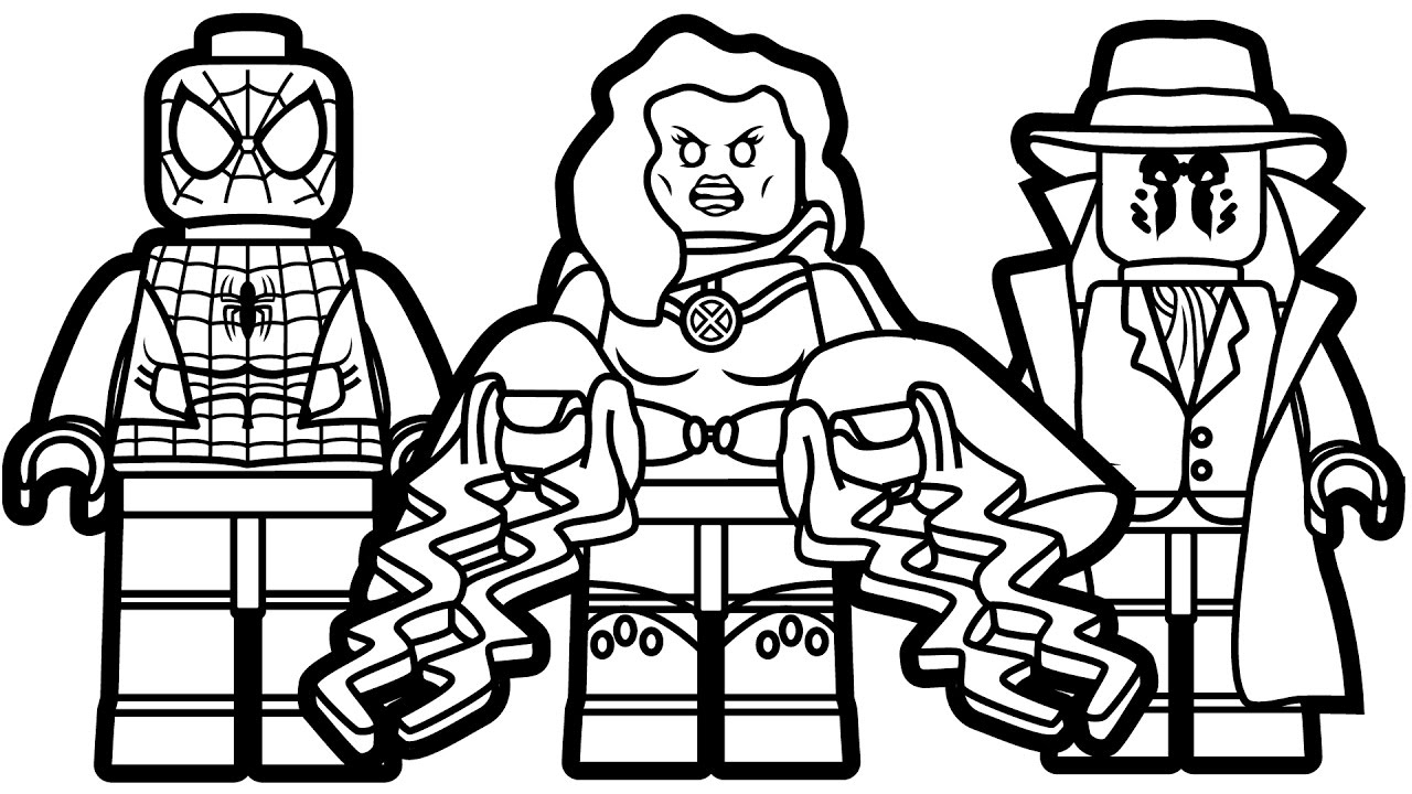 25 Lego Spiderman Coloring Pages Images | FREE COLORING PAGES - Part 3