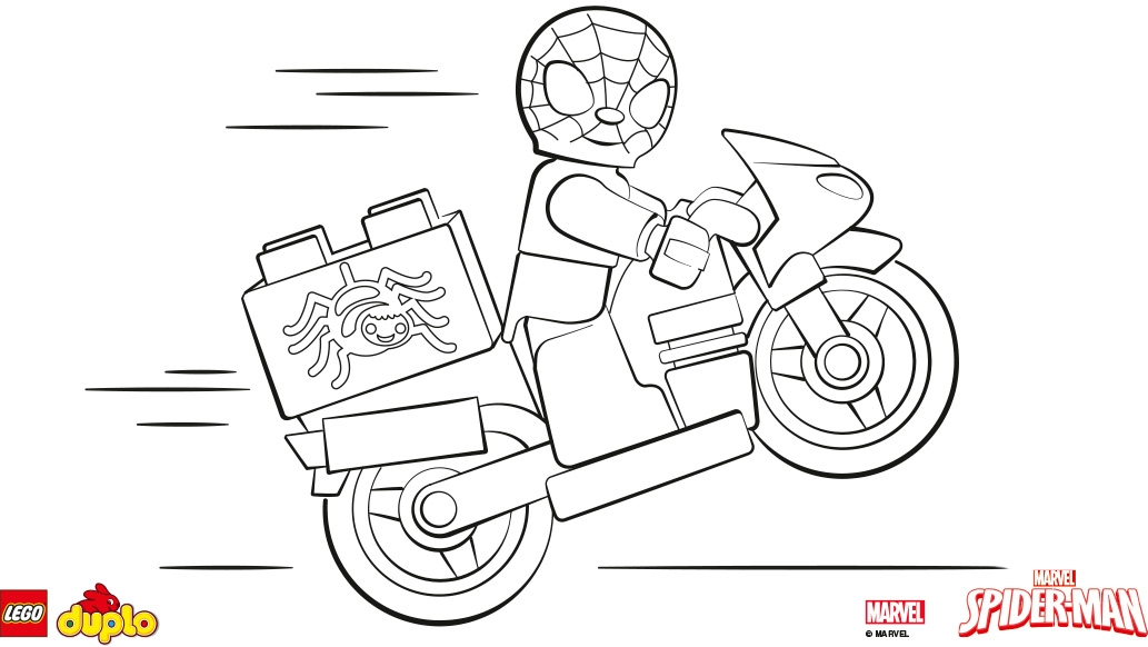 lego spiderman coloring pages - lego spiderman coloring