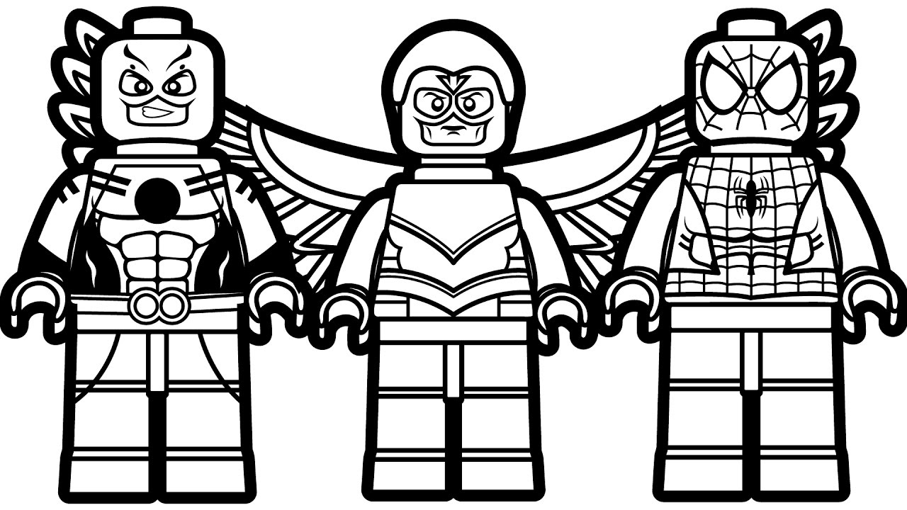 lego spiderman coloring pages - watch v=xgZrbYtTkKg