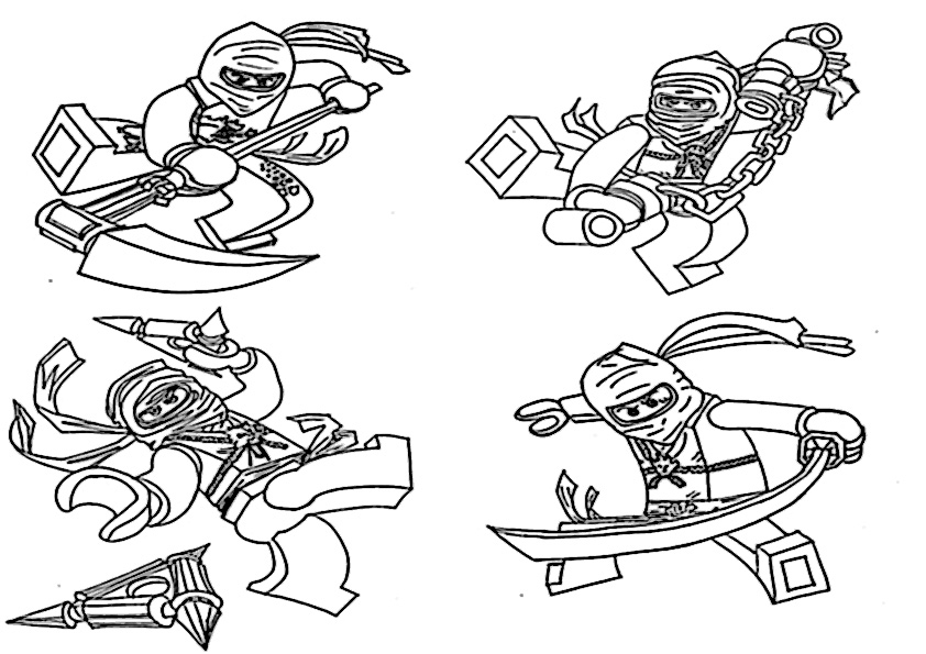 lego star wars coloring pages - ninjago 10