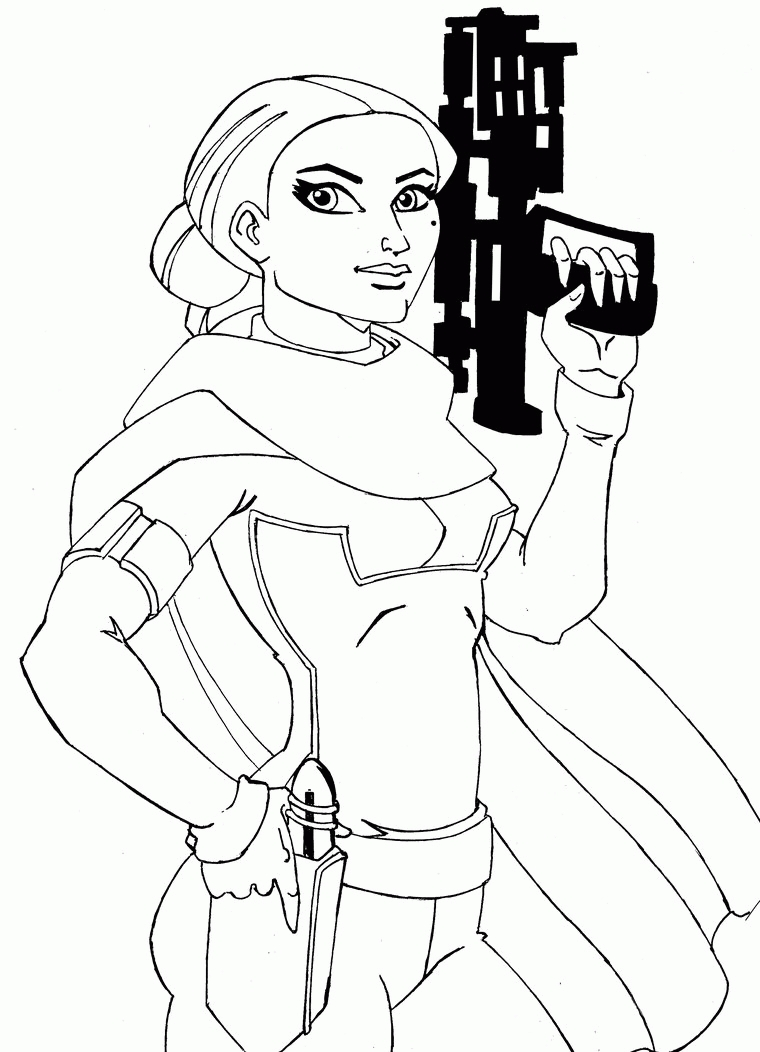 lego star wars coloring pages - padme coloring pages