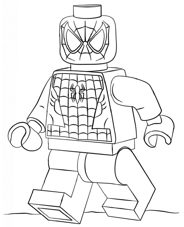 Lego Superman Coloring Pages - Lego Spiderman Kolorowanka Do Druku Malowanka Kolorowanki