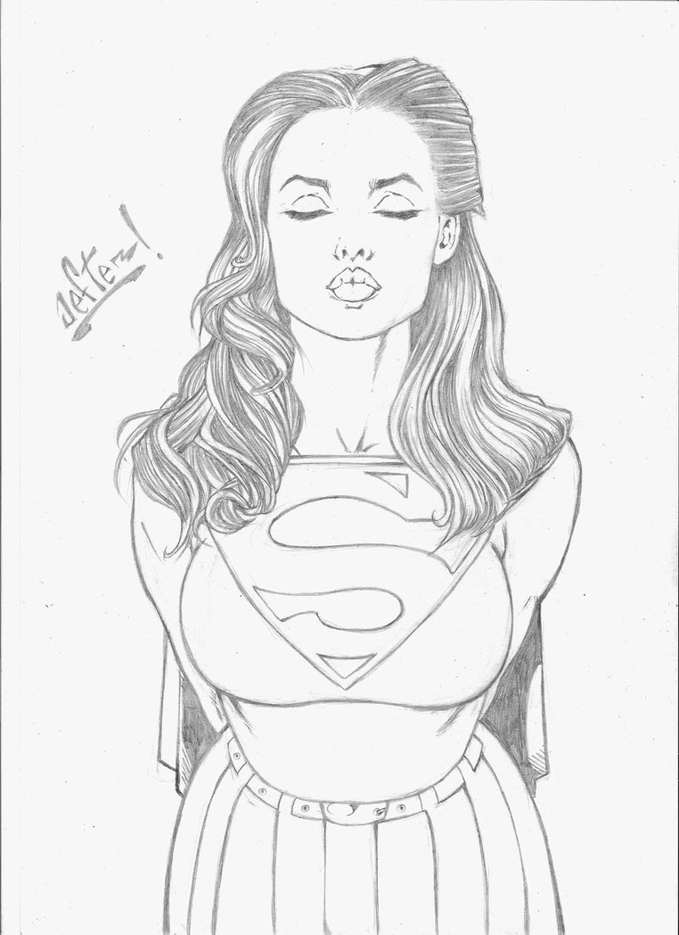 lego superman coloring pages - the kiss of Supergirl