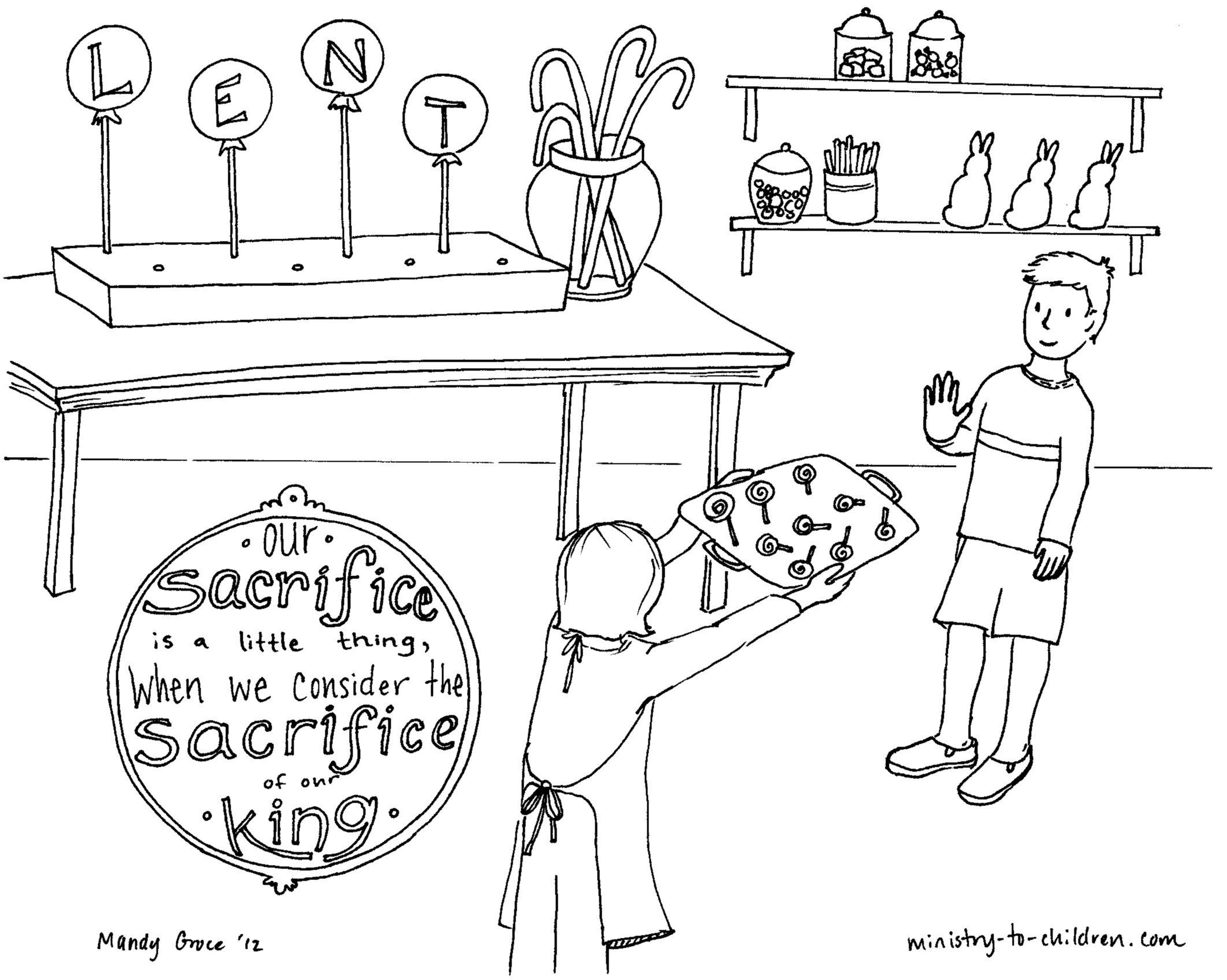 Lent Coloring Pages - Free Lenten Coloring Pages Of Kids