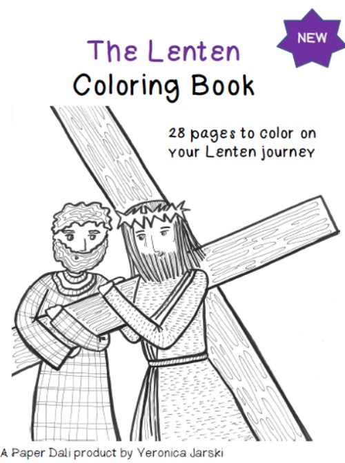 lent coloring pages - the lenten coloring and activity book