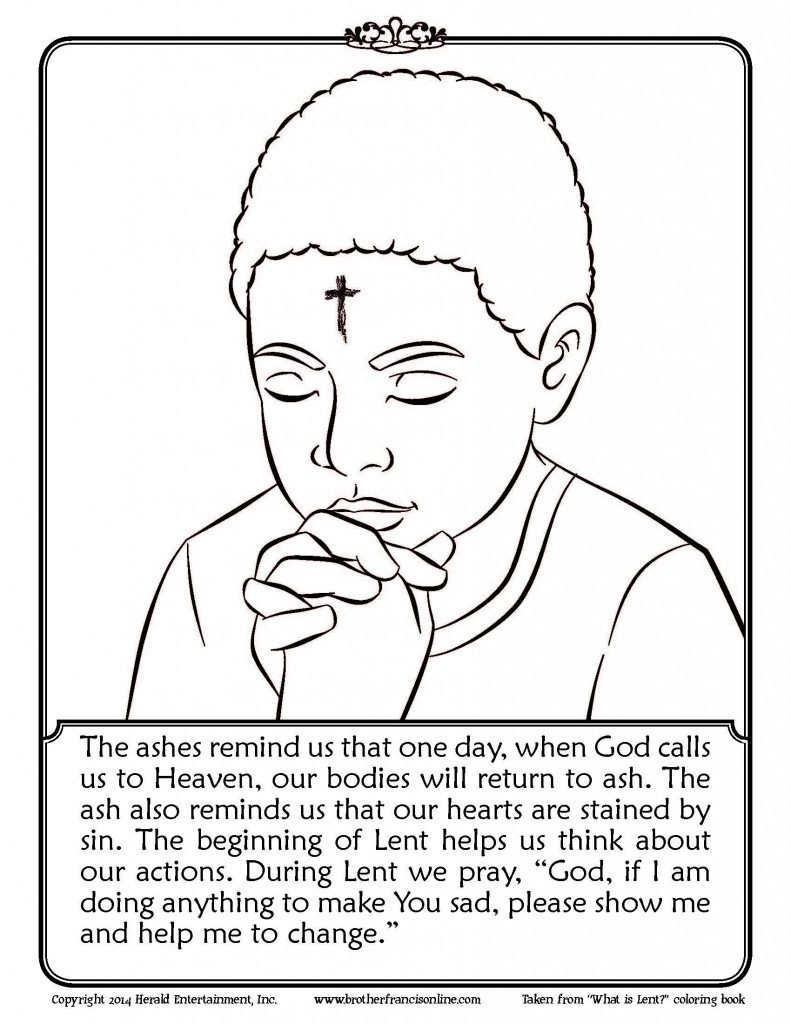 lent coloring pages printable - ash wednesday coloring pages to and print for free lent coloring pages printable