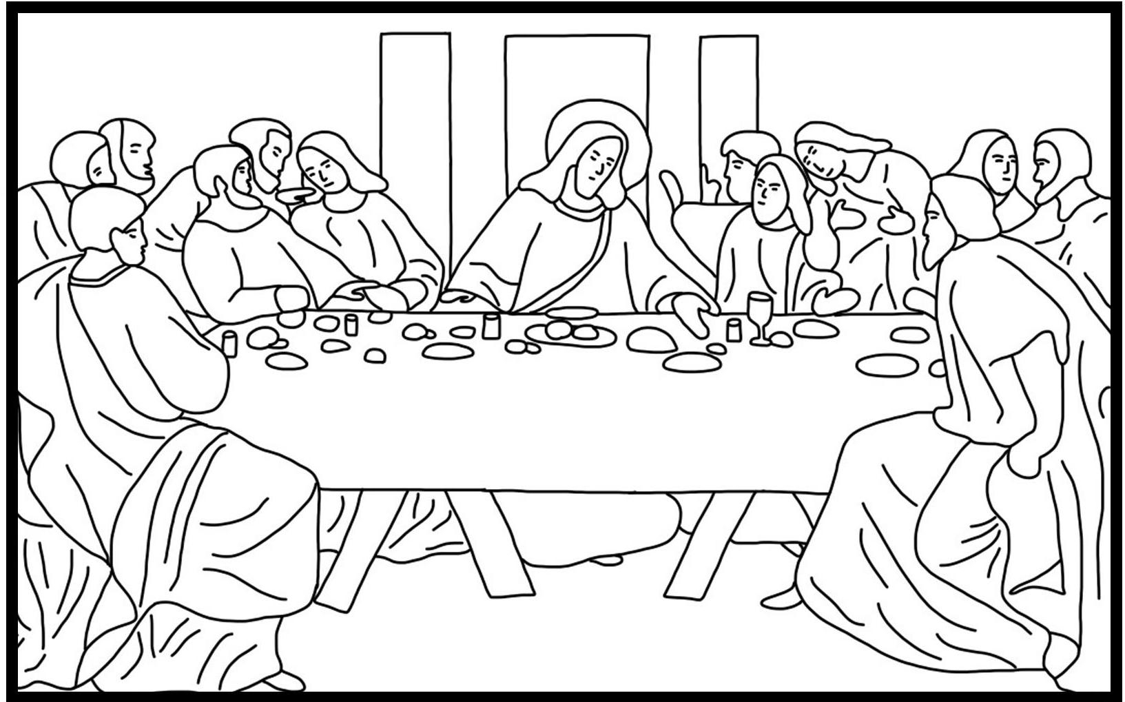 lent coloring pages printable - q=lent last supper