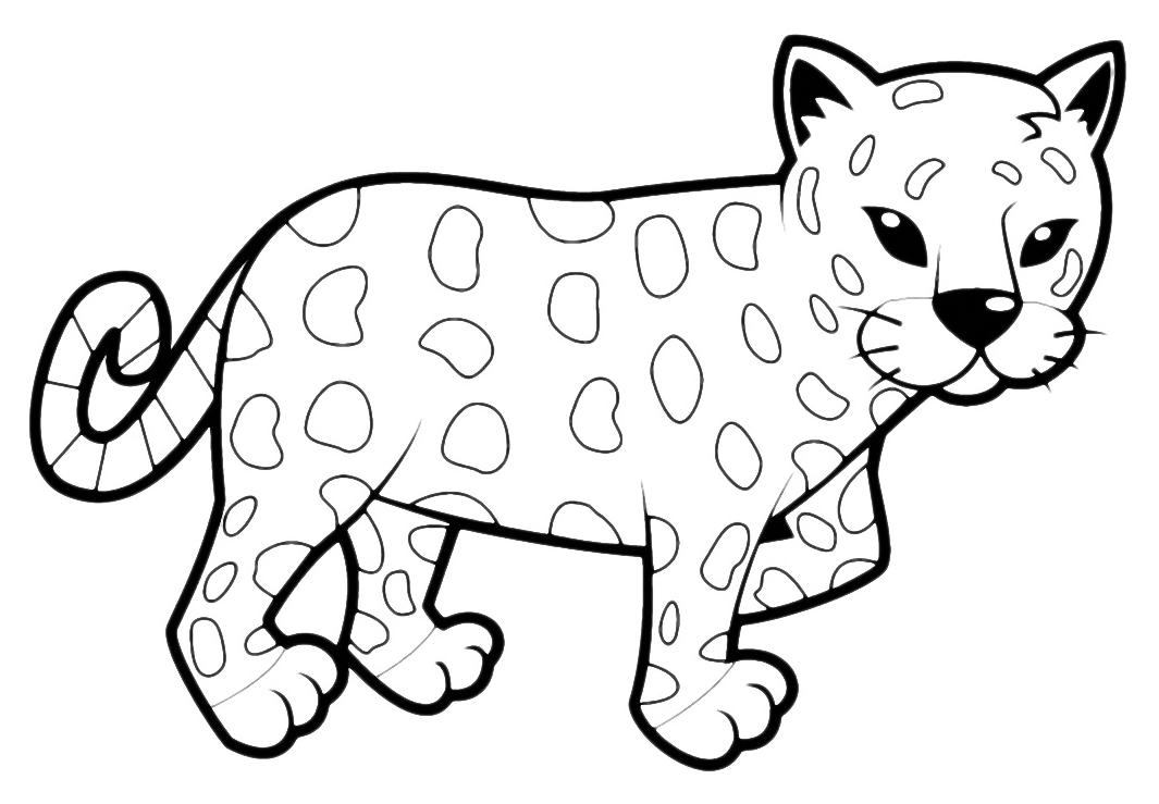 leopard coloring pages - leopardo cucciolo 002