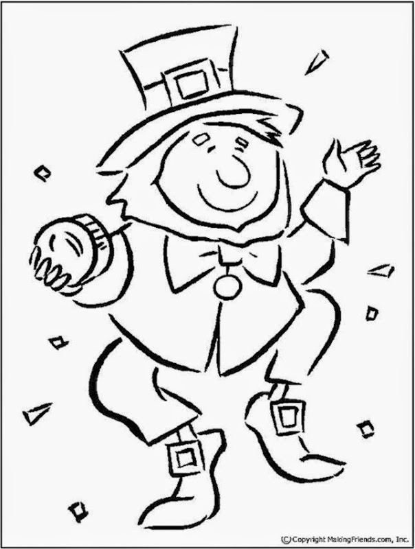 leprechaun coloring pages free - leprechaun pictures to color