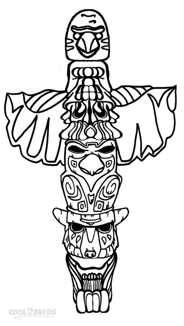 leprechaun coloring pages - printable totem pole coloring pages