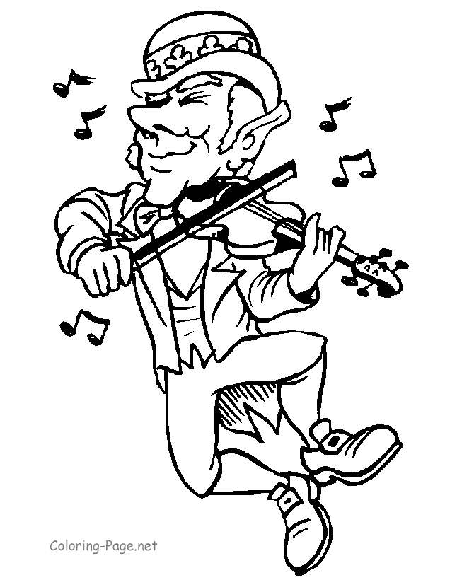 leprechaun coloring pages - saint patricks 24