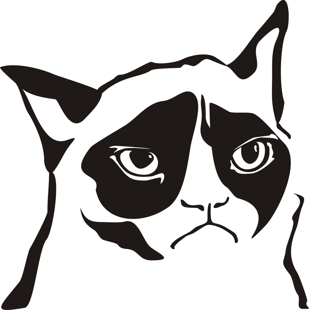 leprechaun coloring pages - Tard the Grumpy Cat vectorized