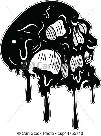 leprechaun coloring pages - melted skull