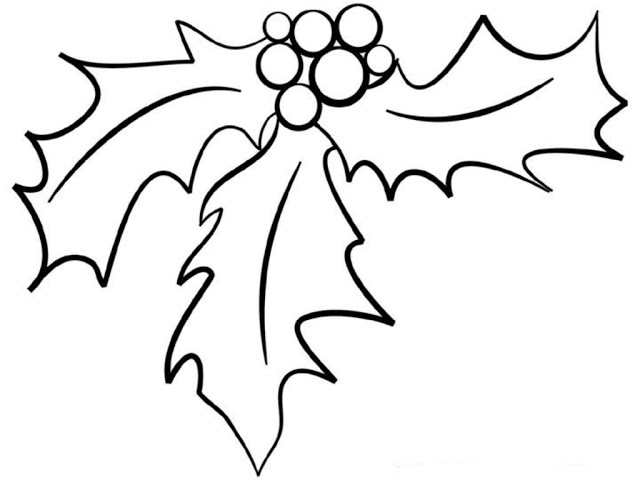 letter a coloring pages - holly coloring pages