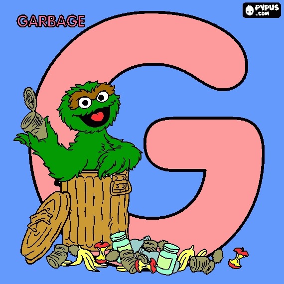 letter a coloring pages - coloring page letter g