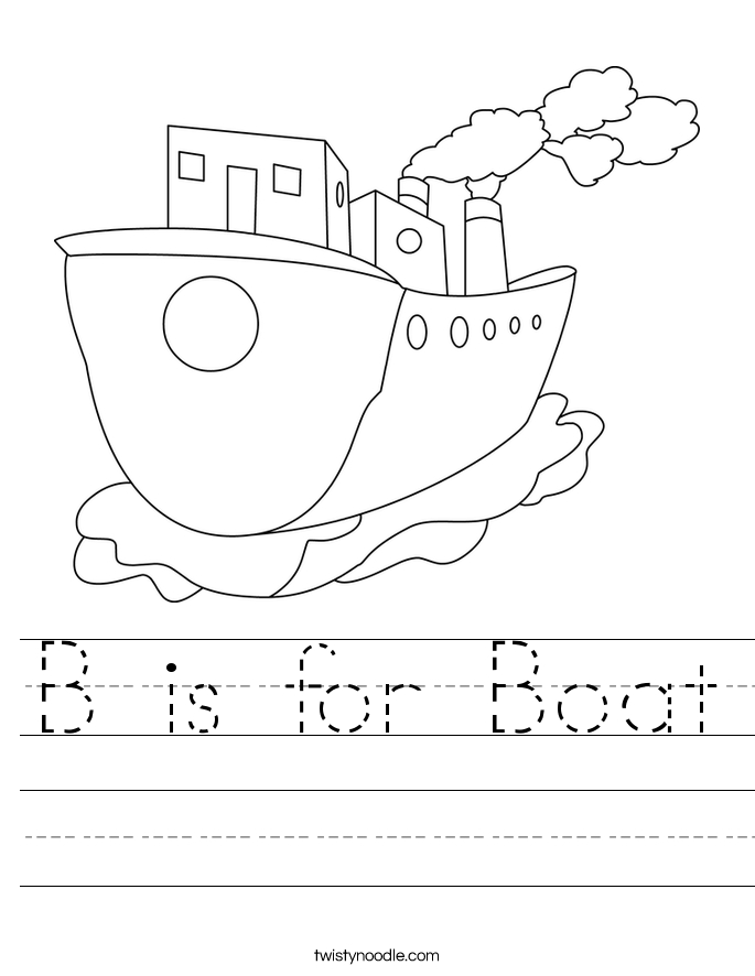 letter b coloring pages - b is for boat 8 worksheet