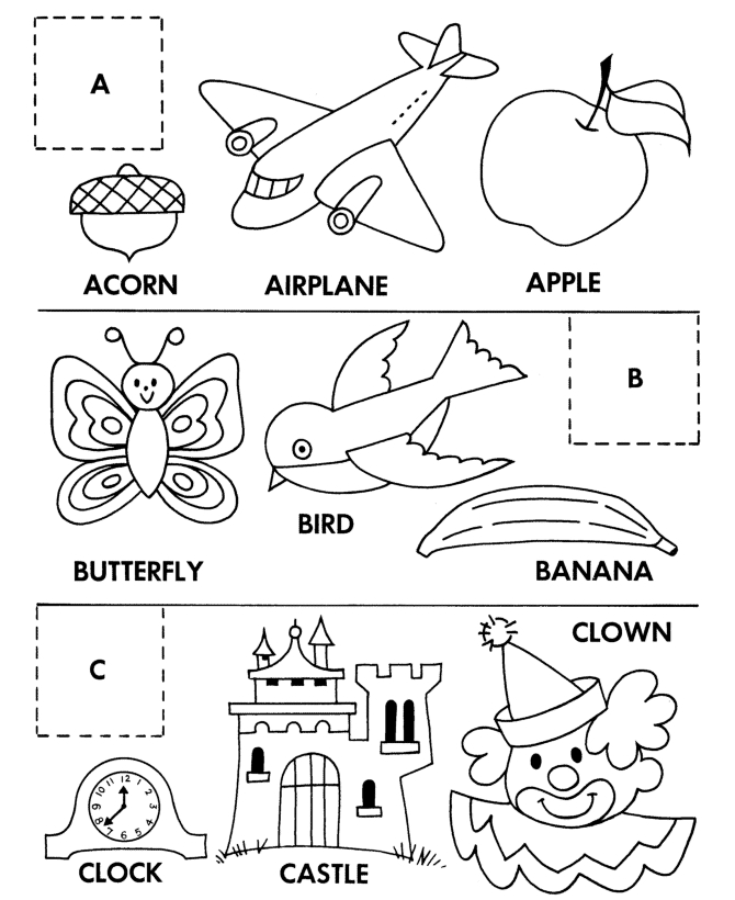 letter b coloring pages - cut and paste coloring pages