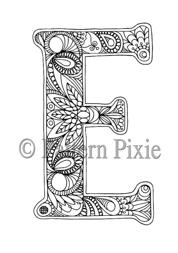 letter coloring pages for adults - adults coloring pages