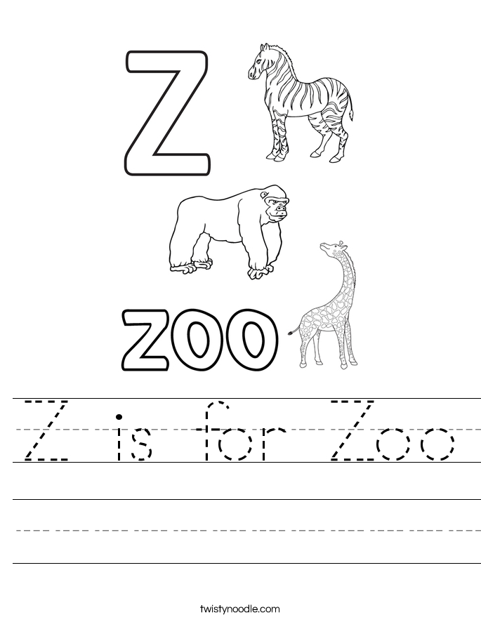 letter d coloring pages - z is for zoo 36 worksheet