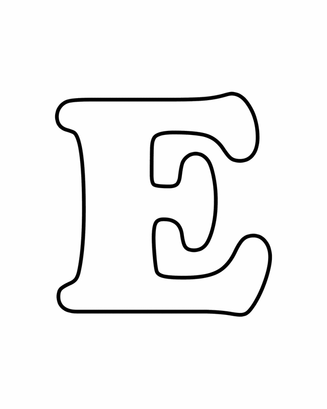 20 Letter E Coloring Page Printable | FREE COLORING PAGES