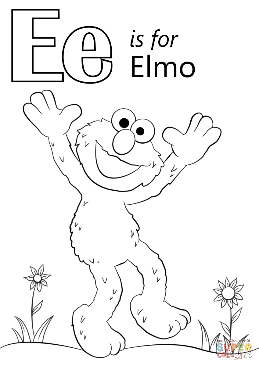 letter e coloring page - free letter e coloring pages