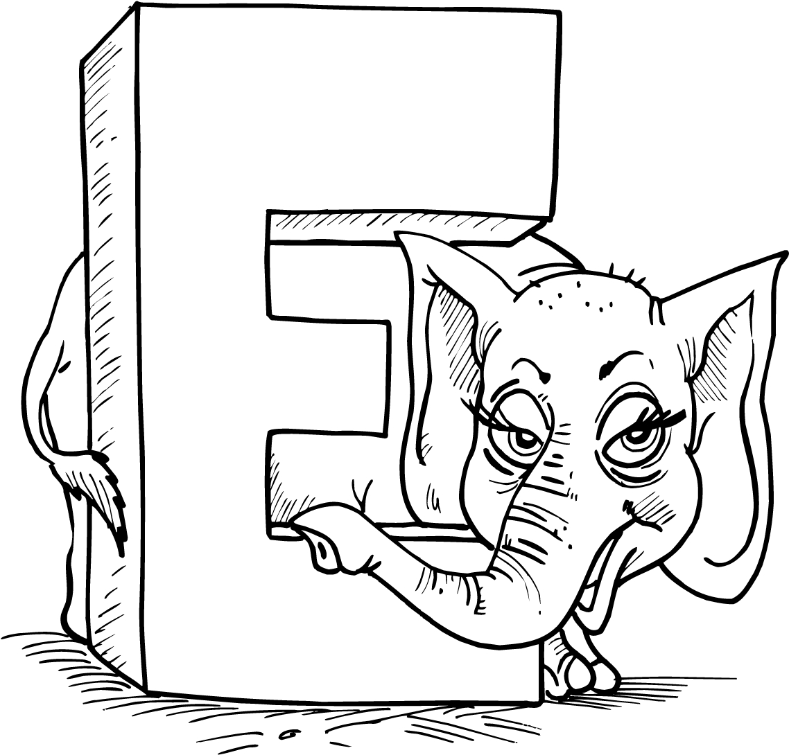 letter e coloring page - 657