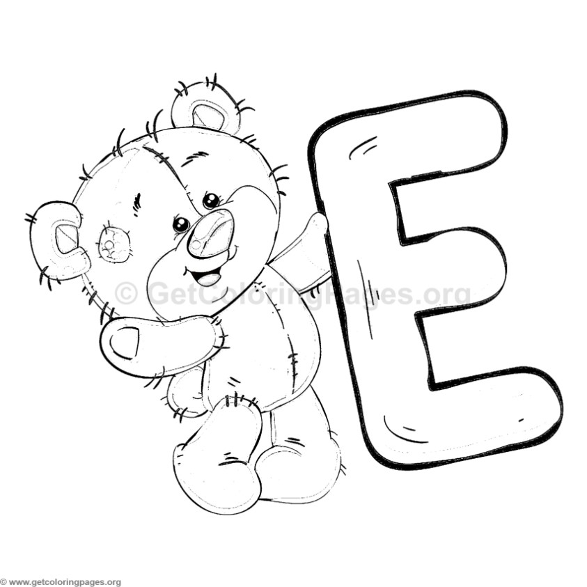 letter e coloring page - 2775