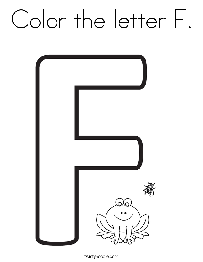 letter f coloring page - color the letter f 2 coloring page