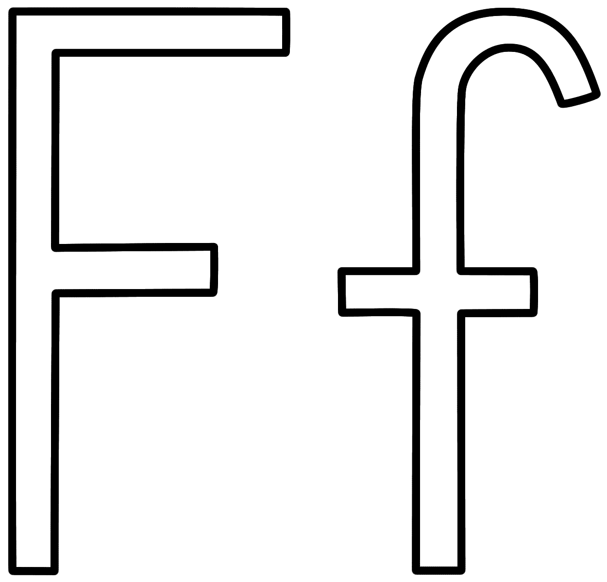 Letter f coloring page letter f
