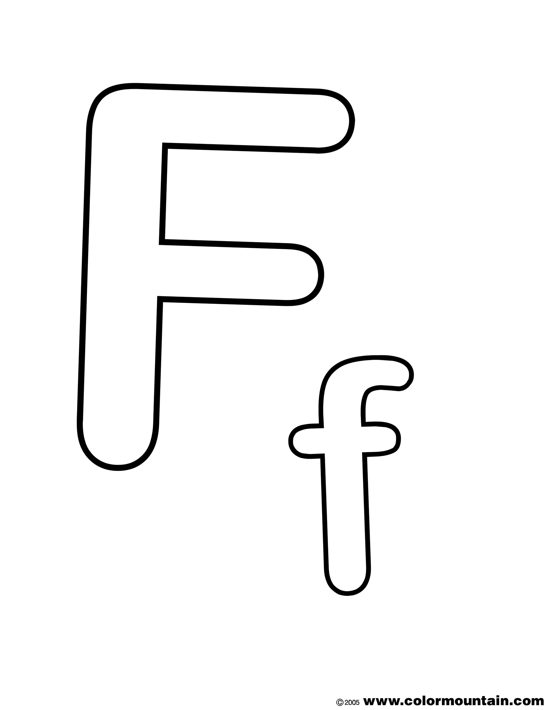letter f coloring page - index id=62