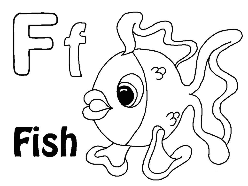 Letter F Coloring Page - Letter F Coloring Pages to and Print for Free