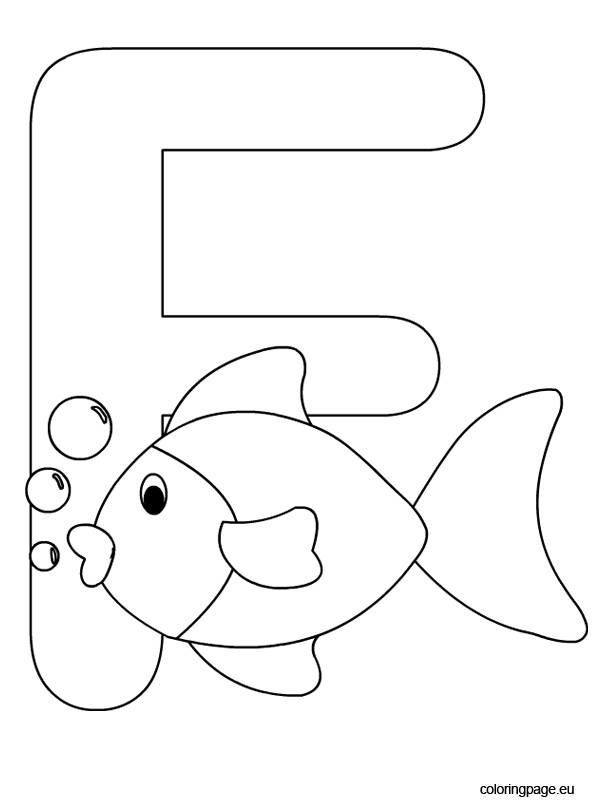 letter f coloring page - letter f