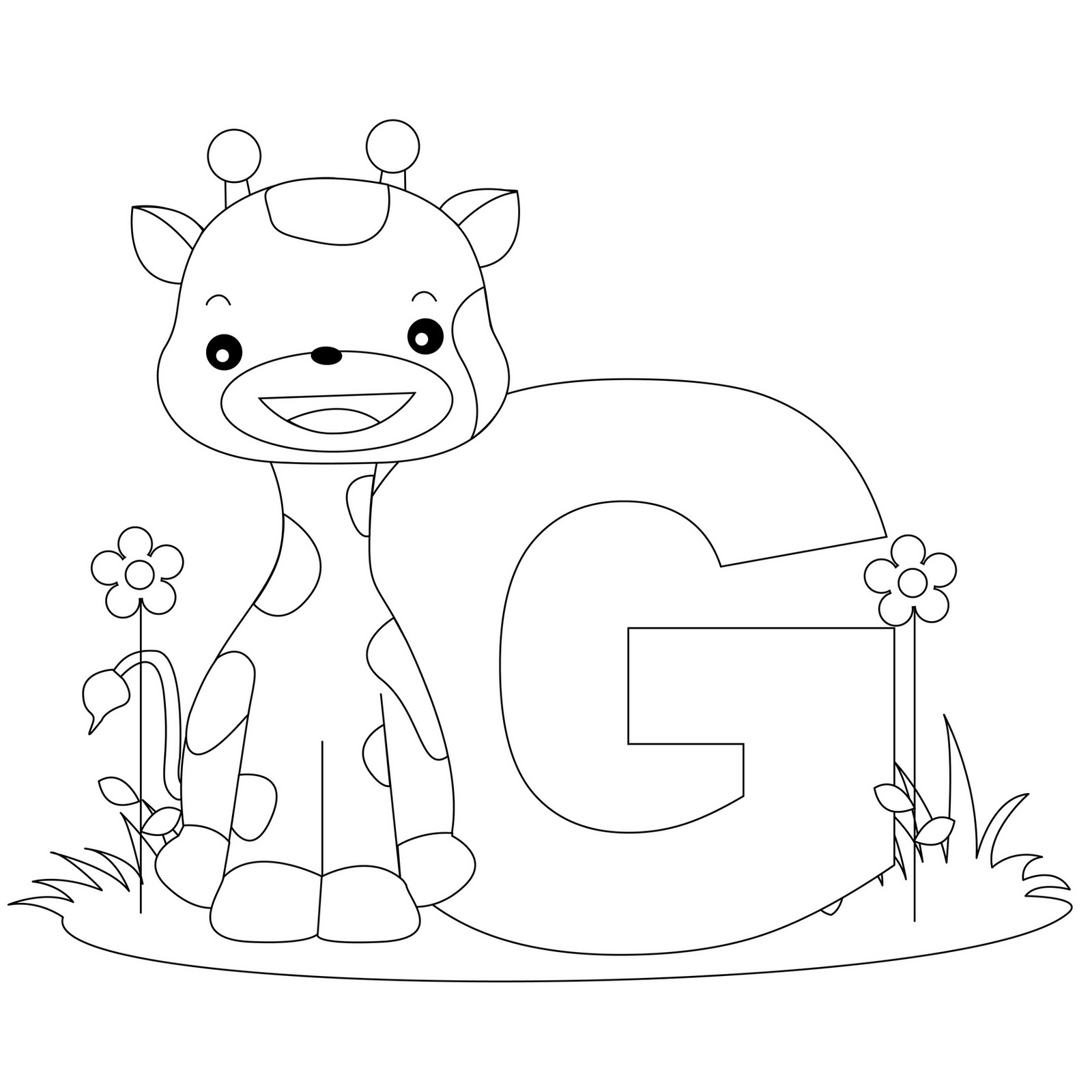 letter g coloring pages - coloring pages letter g