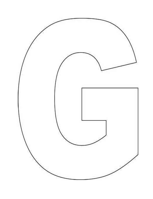 letter g coloring pages - learn letter g for goose coloring page