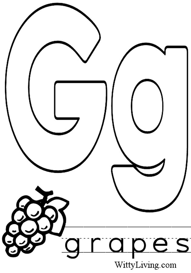 letter g coloring pages - letter g coloring pages