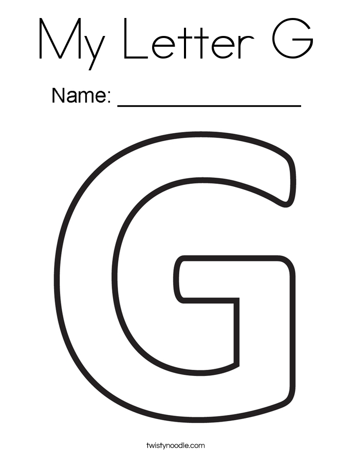 letter g coloring pages - my letter g coloring page