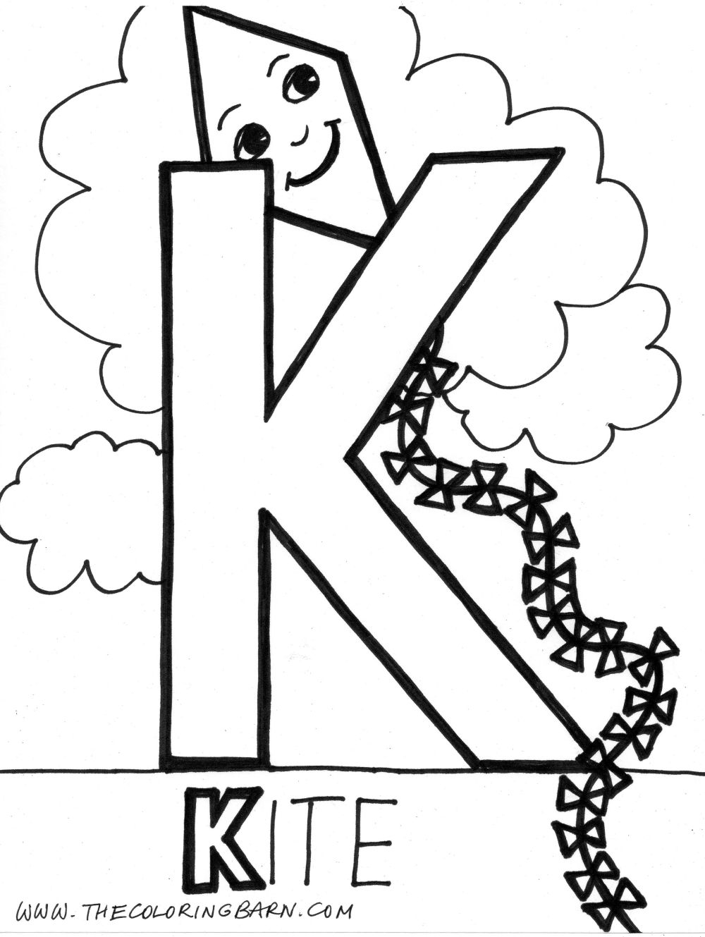 letter k coloring page - 707