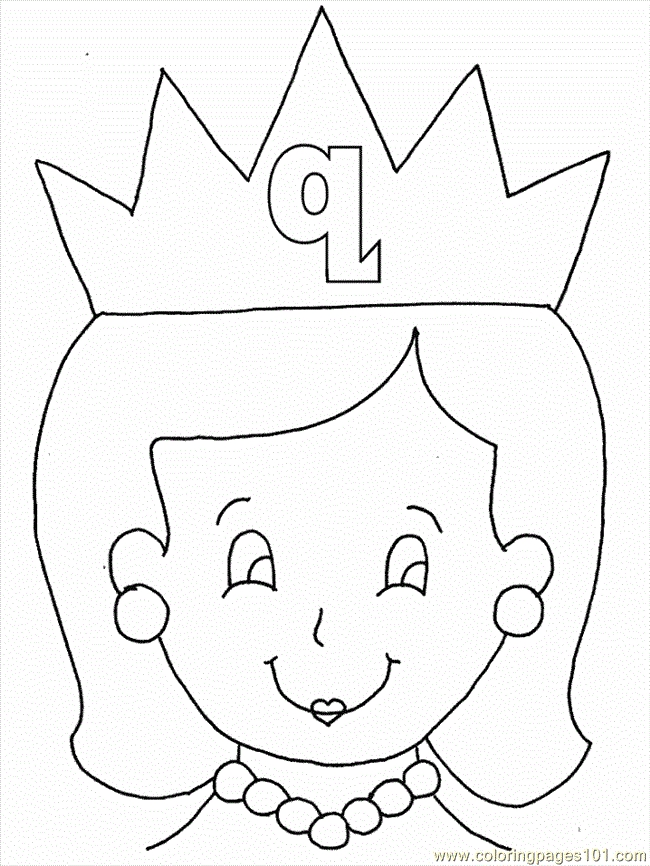 letter l coloring pages - letter q coloring pages