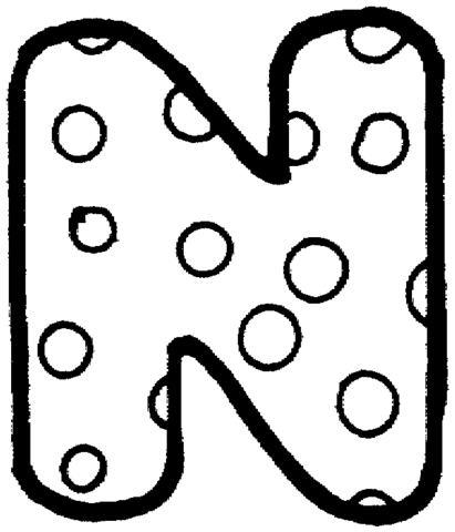 letter n coloring page -