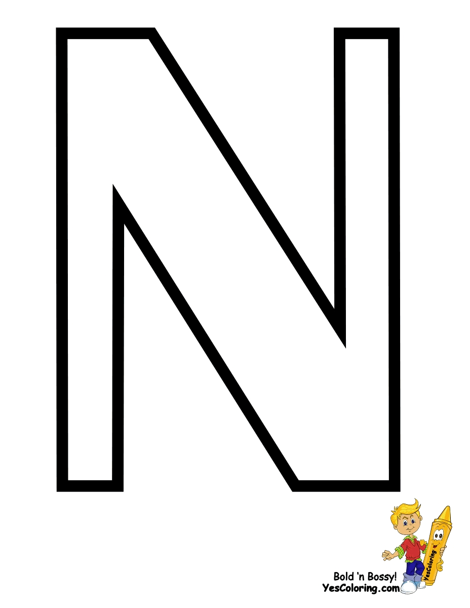 letter n coloring page - q=letters n
