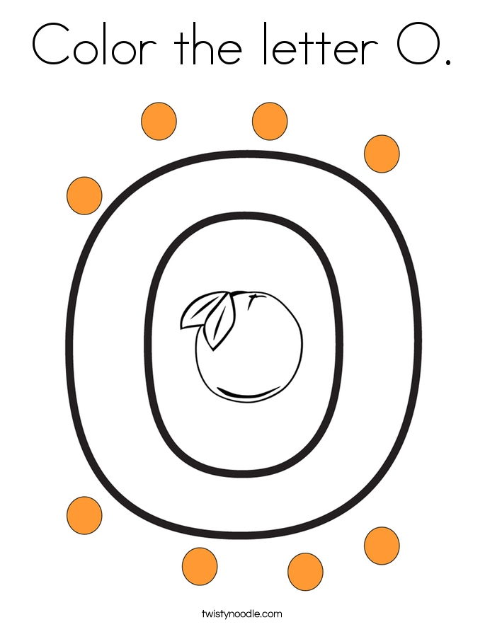 letter o coloring pages - color the letter o coloring page