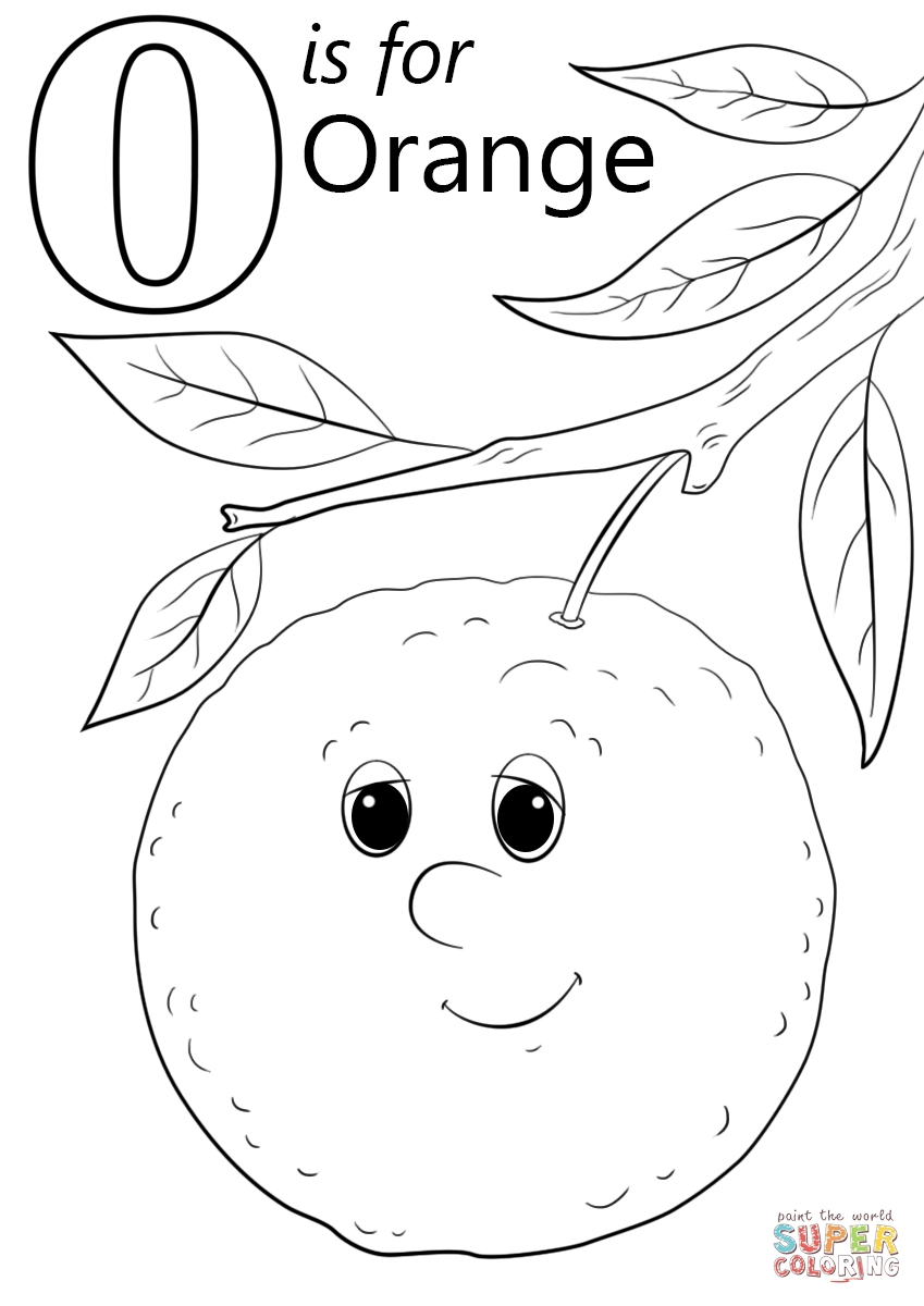 letter o coloring pages - letter o is for orange