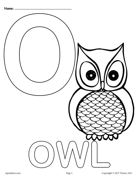 letter o coloring pages - letter o alphabet coloring pages 3 free printable versions